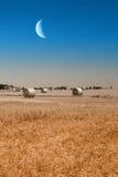 Звёздное небо над bales сена Стоковые Фотографии RF