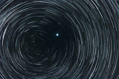 Звёздное небо с следами Стоковая Фотография RF