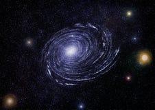 Звёздная текстура предпосылки космического пространства Стоковая Фотография