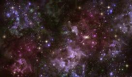 Звёздное небо в открытом пространстве Стоковое Фото