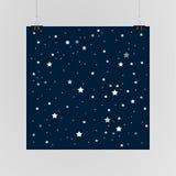 Звёздный плакат неба на стене 10 eps Стоковая Фотография