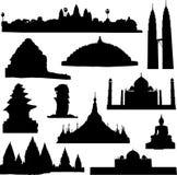 здание Азии известное наилучшим образом иллюстрация вектора