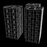 Здание архитектуры Wireframe Стоковая Фотография RF