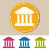 Здание банка - красочная иллюстрация вектора - изолированное на Monotone предпосылке Стоковые Фото