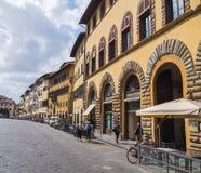 Здание банка Тосканы в Флоренсе вызвало Banca Toscana - ФЛОРЕНС/ИТАЛИЮ - 12-ое сентября 2017 стоковые фотографии rf