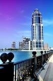 Здание башни Катара одиночное Стоковое фото RF
