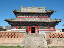 Здание буддийского виска в Монголии Стоковые Изображения