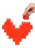 здание вручает женщину сердца Стоковая Фотография