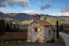 Здание в винной стране стоковая фотография