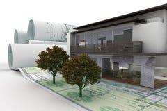 Здание в планировании VII иллюстрация вектора