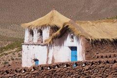 Здание в пустыне Atacama стоковые изображения