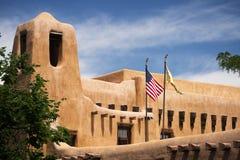Здание в Санта-Фе, Неш-Мексико стоковое изображение