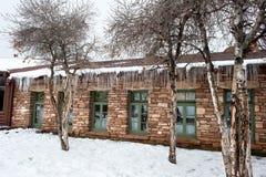 Здание в снежке Стоковая Фотография RF