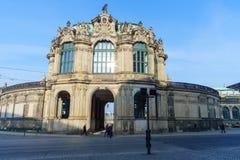 Здание в старом городке Дрездена стоковая фотография rf