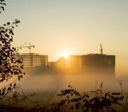Здание в тумане Стоковое Фото