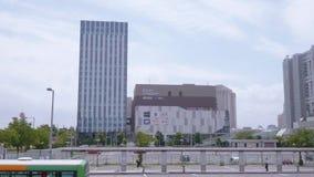 Здание города водолаза токио - ТОКИО/ЯПОНИЯ - 12-ое июня 2018 акции видеоматериалы