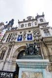 Здание Гостиницы de Ville, Париж, Франция Стоковое фото RF
