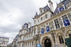 Здание Гостиницы de Ville, Париж, Франция Стоковое Фото