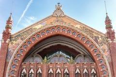 Здание двоеточия в Валенсия, Испании Mercado стоковое изображение