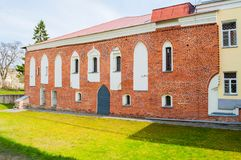 Здание дворца ` s архиепископа, дворец музея фасеток в Veliky Новгороде, России Стоковое Изображение