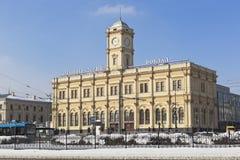 Здание железнодорожного вокзала Ленинграда в Москве Стоковое Изображение RF