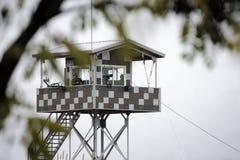 Здание замечания смотря к Корейской Северной Корее стоковая фотография rf