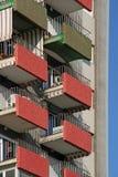 Здание и балконы, Стоковое Изображение RF