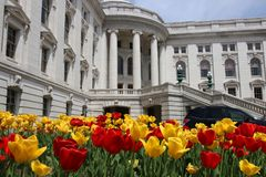 Здание капитолия положения Висконсина, hystorical ориентир ориентир стоковые изображения rf