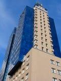 здание квартиры голубое Стоковые Фото