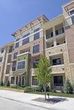 здание кирпича квартиры самомоднейшее Стоковая Фотография RF