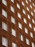 здание кирпича коричневое Стоковые Фото