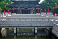 Здание королевства Wu в Wuxi Китае стоковая фотография rf