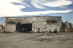 здание, котор сгорели вниз Стоковое Фото