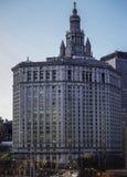 Здание Манхаттана муниципальное Стоковая Фотография