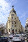 Здание метрополии в Мадриде Стоковые Изображения