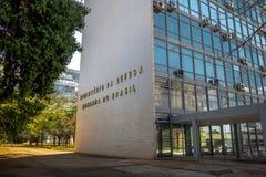 Здание Министерства обороны и бразильский военно-морской флот - Brasilia, Distrito федеральное, Бразилия стоковая фотография rf