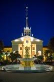 Здание морского порта nea фонтана в городе Сочи. стоковое изображение rf
