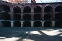 Здание моста золотого строба пункта форта Стоковое Фото