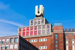 Здание музея Dortmunder U-башни, Дортмунд стоковая фотография
