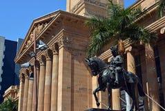 Здание муниципалитет Брисбена, Queenland Австралия стоковое изображение