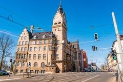 Здание муниципалитет вызвал Rathaus Wahren в Лейпциге, Германии Стоковые Изображения