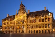 Здание муниципалитет в Antwerp Стоковая Фотография RF