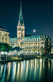 Здание муниципалитет Гамбург, Германии стоковая фотография