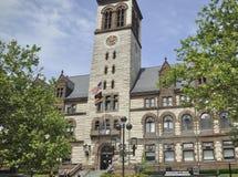 Здание муниципалитет городской Кембридж Кембриджа в положении Massachusettes США Стоковое Изображение RF