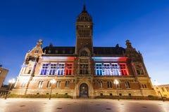 Здание муниципалитет Дюнкерка стоковые фотографии rf