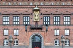 Здание муниципалитет Копенгагена стоковое фото