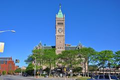 Здание муниципалитет Лоуэлл, Массачусетс, США стоковое фото