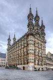 Здание муниципалитет лёвена, Бельгия стоковая фотография rf
