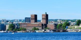Здание муниципалитет Осло Стоковая Фотография RF