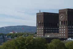 здание муниципалитет Осло Стоковое Изображение